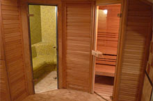 Dyntar Sauna Poplar + steam bath, whirlpool, furniture