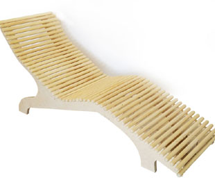 Sauna relaxing bench DYNTAR ORGANIC PLUS
